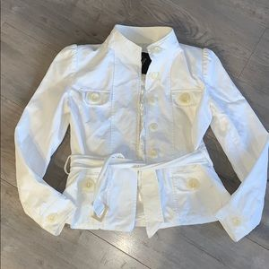 Rebecca Ford Puff Sleeve White Jacket Small